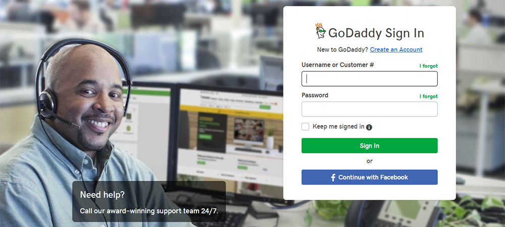 Provide Username and Password to Access Domain in GoDaddy